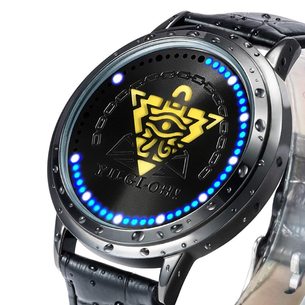 Yu-Gi-Oh Led Watch Waterproof Touch Screen Digital Light Watch Wristwatch Duel Monster Yugi Mutou Pyramid Cosplay Props Gift New