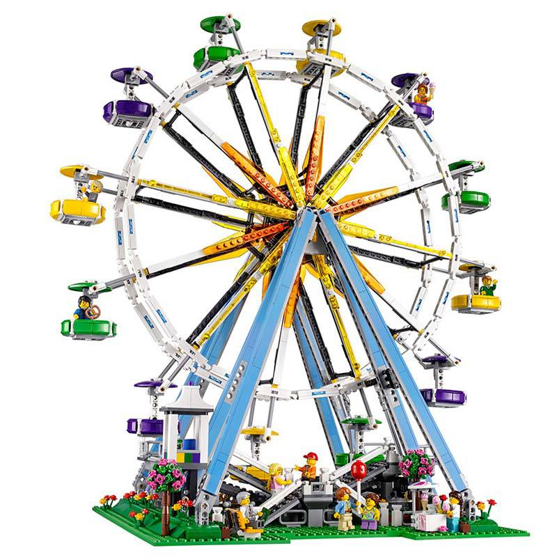 15012 2478pcs City Street Ferris Wheel Model Building Kits Blocks Toy Children Gifts 10247 15012 2478pcs city series expert ferris wheel set compatible with 10247 model building blocks toys