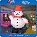 4 м/13ft Гигантские Надувные Новогодние снеговик Машет Рукой Надувной Снеговик на Рождество Милый Надувные Рождественские Украшения