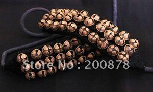 Image 2 - _ Индийский танцевальный браслет ручной работы, Латунные Колокольчики, черный и красный