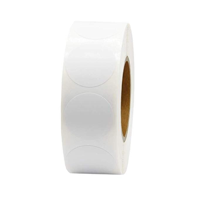 Купить с кэшбэком Chroma Label 1 inch Color-Code Dot Labels stickers 500/Roll Black,white,green,blue,orange,red,pink,yellow stationery stickers