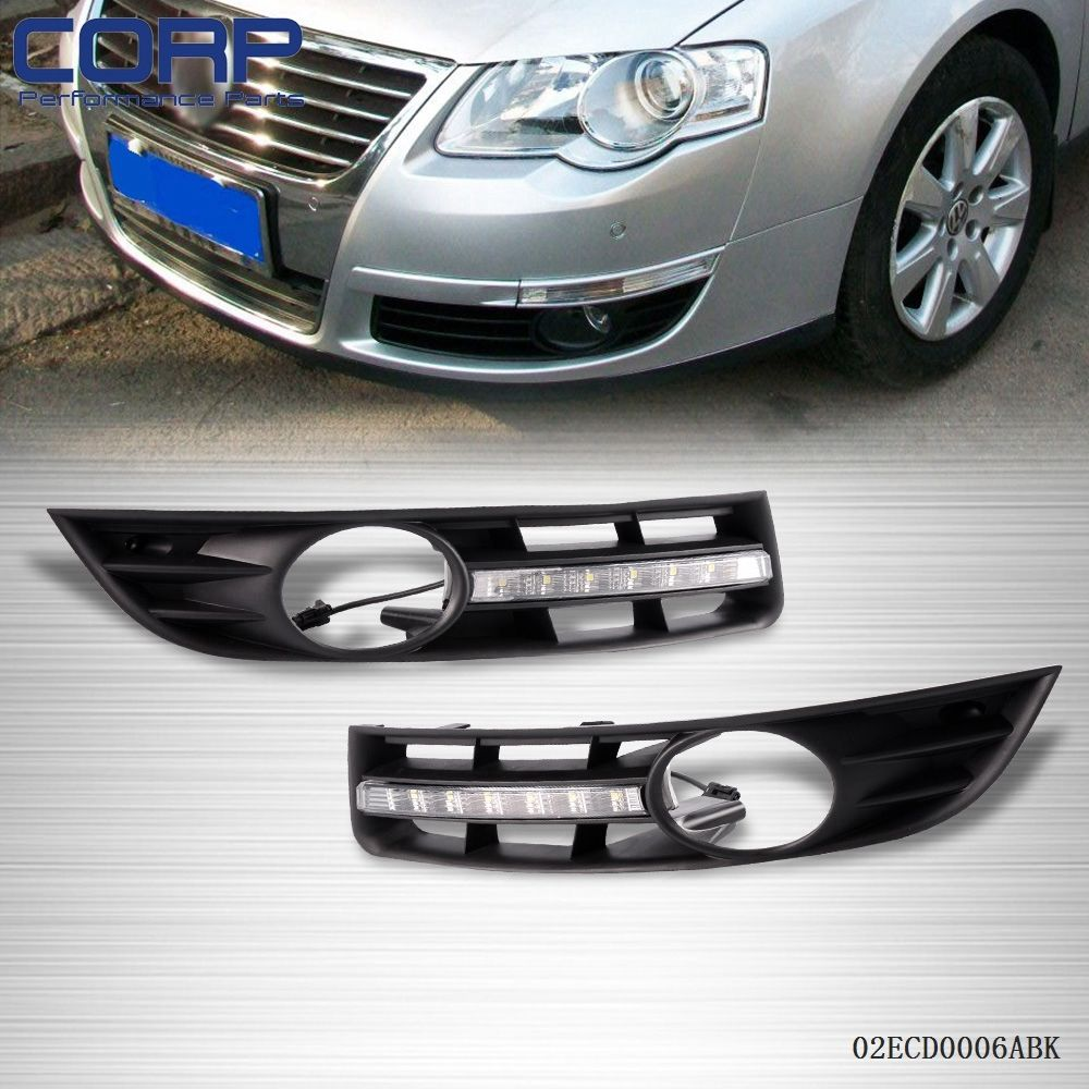 Для Volkswagen Magotan 2006-2009 светодиодные фары дневного света ДРЛ тумана Лампа Крышка
