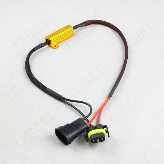 H7 H8 H11 9005 HB3 9006 HB4 LED DRL Fog Light Canbus 50W 6Ohm Load Resistor Wiring Canceller Decoder (2pcs) 2pcs car led headlight decoder fog light drl no error load resistor no flickering warning canceller 9005 9006 hb3 hb4
