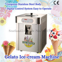 Hard Ice Cream Machine Stainless Steel Gelato Maker Production Yield 18 liters/H Countertop Type