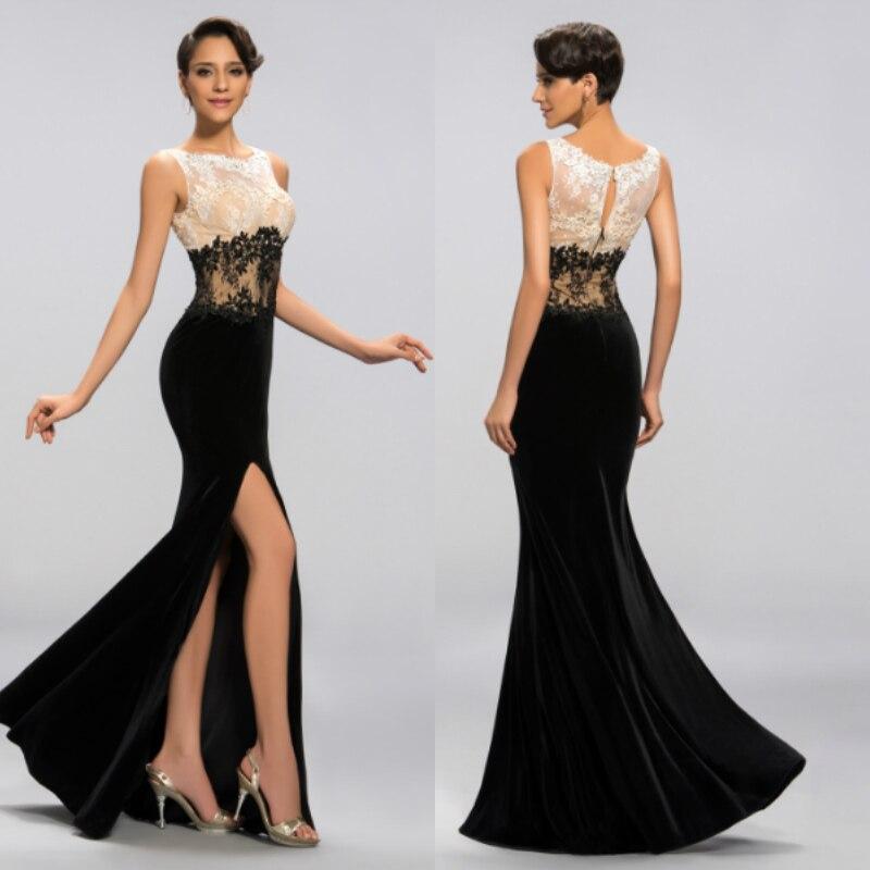 Black Wedding Gowns For Sale: 2018 Robe De Soiree Courte Sexy High Split Saree Black