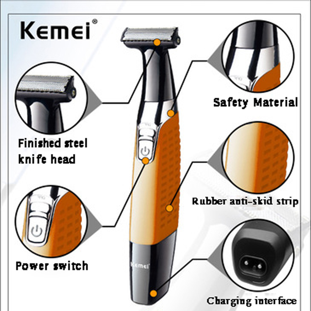 Image 2 - One Blade Men's Electric Shaver Body Face Electric Razor for Male Stubble Trimmer Beard Shaving Edge Head-in Electric Shavers from Home Appliances
