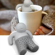 Силиконовый ситечко для чая, интересный партнер, Милый мистер, чайный горшок, мистер маленький человек, люди, фильтр для заваривания чая, чайник