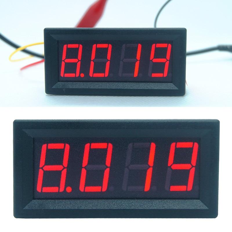 0-9.999A (10A) 4-разрядный Амперметр токовый измерительный прибор с панелью 0,56 дюймов красный светодиод Тестер инструменты