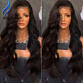 Alicrown 130-180 Density Full Lace Wigs Bleached Knots Body Wave Wavy Human Hair Lace Front Wigs With Baby Hair Lace Frontal Wig