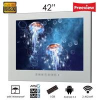 Souria 42 1080HD полный исчезающий телевизор магическое светодиодное зеркало ТВ WiFi Android большой экран ванная комната водостойкий ТВ