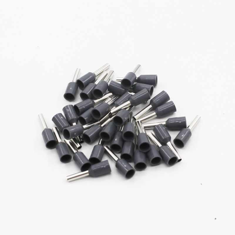 100 stks/pak E0508 E7508 E1008 E1508 E2508 Geïsoleerde Adereindhulzen Terminal Blok Cord End Wire Connector Elektrische Crimp Terminator