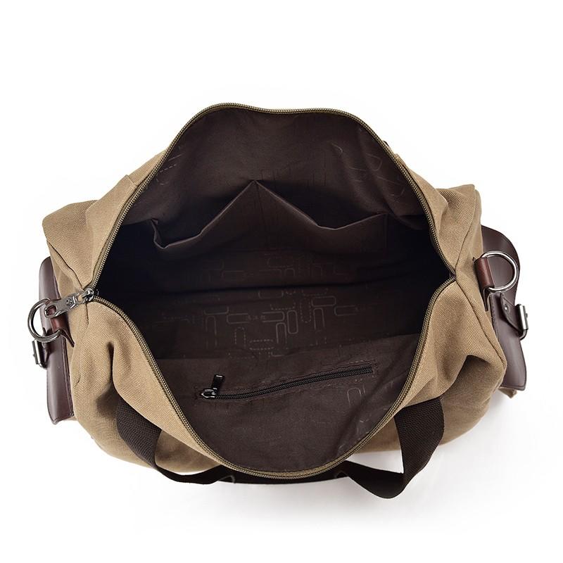 Famous Brand Men Vintage Canvas Men Travel Bags Women Weekend Carry On Luggage & Bags Leisure Duffle Bag Large Capacity Handbags (13)
