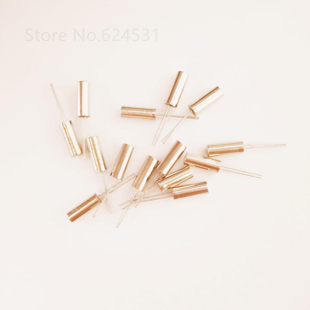 10pcs Cylindrical 3*8mm 32.768K Quartz Crystal 32768 Passive Crystal Resonator