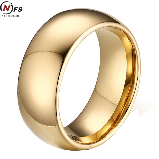 NFS Classic Gold Filled Tungsten Carbide Rings For Man Cool s