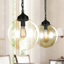 Modern glass ball pendant light creative LED art deco hanging lamp fixture for bedroom living room restaurant dinner room E27 недорого