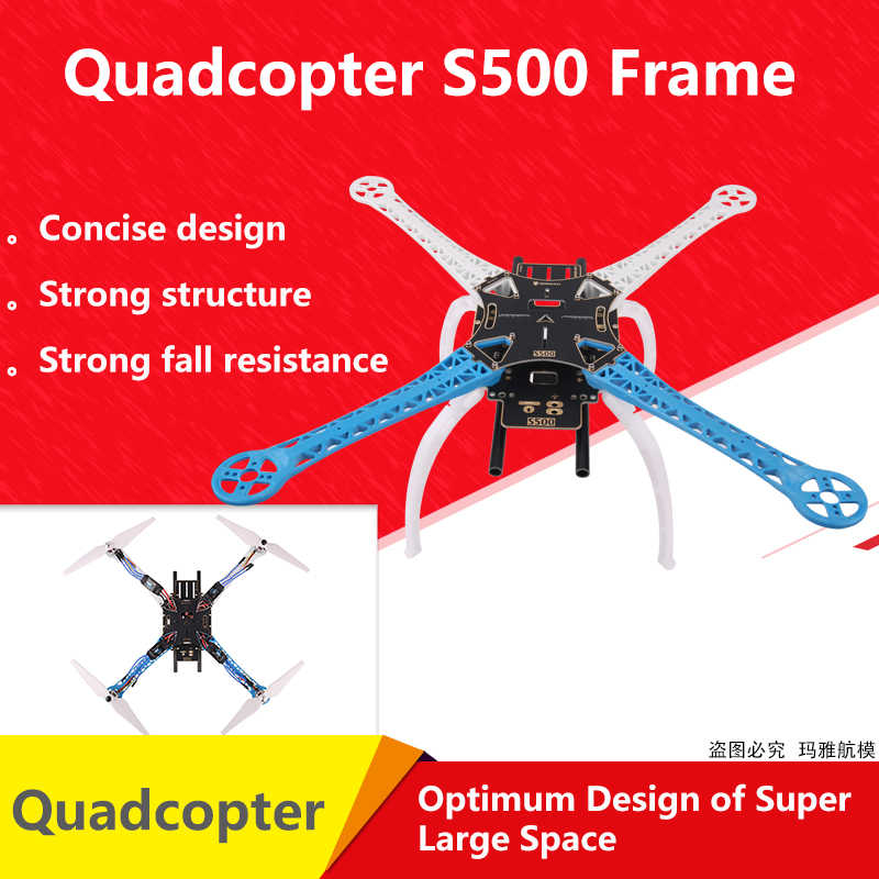 FPV S500 SK500 PCB Glass Fiber Upgrade F450 F550 Quadcopter Frame Kit with  Landing Gear FPV Racing RC Drone| | - AliExpress
