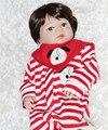 """22"""" 55cm Full body silicone reborn dolls for girls boys dolls gift kids bath doll toys bebe bonecas reborn realista"""