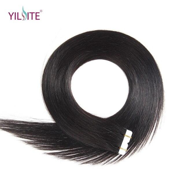 Yilite Free Shipping 22inch 100 Russian Human Tape In Hair