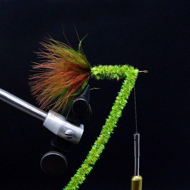 2yards Ice Dub Chenille Yarn 10 Colors Dia 6mm Fly Tying Sparkle Antron Yarn