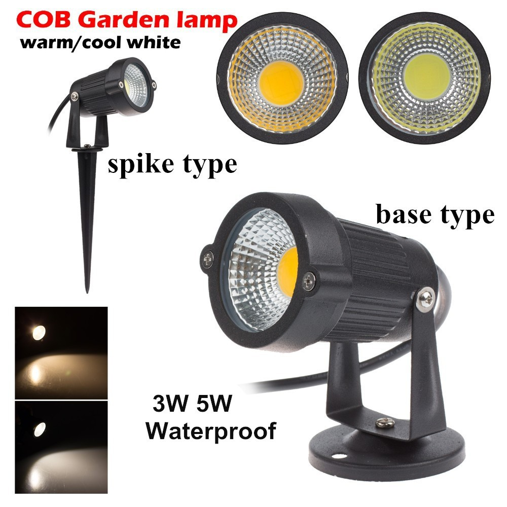 9W 7W 5W 3W Led Garden LED Lamp 110 V 220V COB Outdoor Landscape spotlight with Spike Base IP65 Garden Yard Pathway Lawn Light-in LED Lawn Lamps from Lights & Lighting