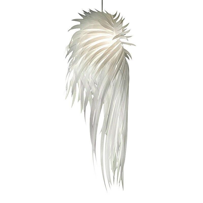 BDBQBL White PVC Feather Pendant Lights Art Deco Angel Wings Pendant Lamp Bedrooms AC 90V-240V LED Bulbs Parlor Hanging LampBDBQBL White PVC Feather Pendant Lights Art Deco Angel Wings Pendant Lamp Bedrooms AC 90V-240V LED Bulbs Parlor Hanging Lamp