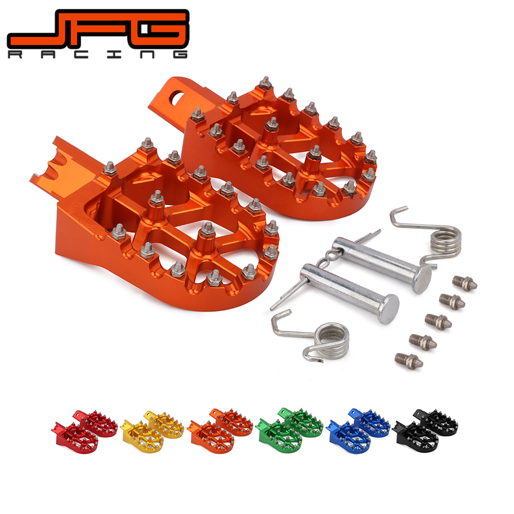 Image 2 - Motorcycle Universal CNC Colorful Footpeg Footrest Foot Pegs For HONDA CRF XR 50 70 110 M2R SDG DHZ SSR KAYO Pit Bike-in Foot Rests from Automobiles & Motorcycles