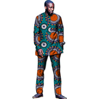 Fashion African Men Clothes Sets Man's Tops+Trousers Set Printing Clothing Dance Festive Costume Africa Clothing Customized