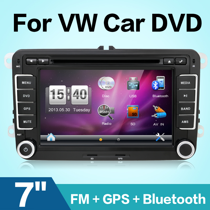 autoradio 2 din car dvd vw navigation for VW GOLF 4 GOLF 5 6 POLO PASSATCC JETTA TIGUAN TOURAN SCIROCCO T5 with GPS