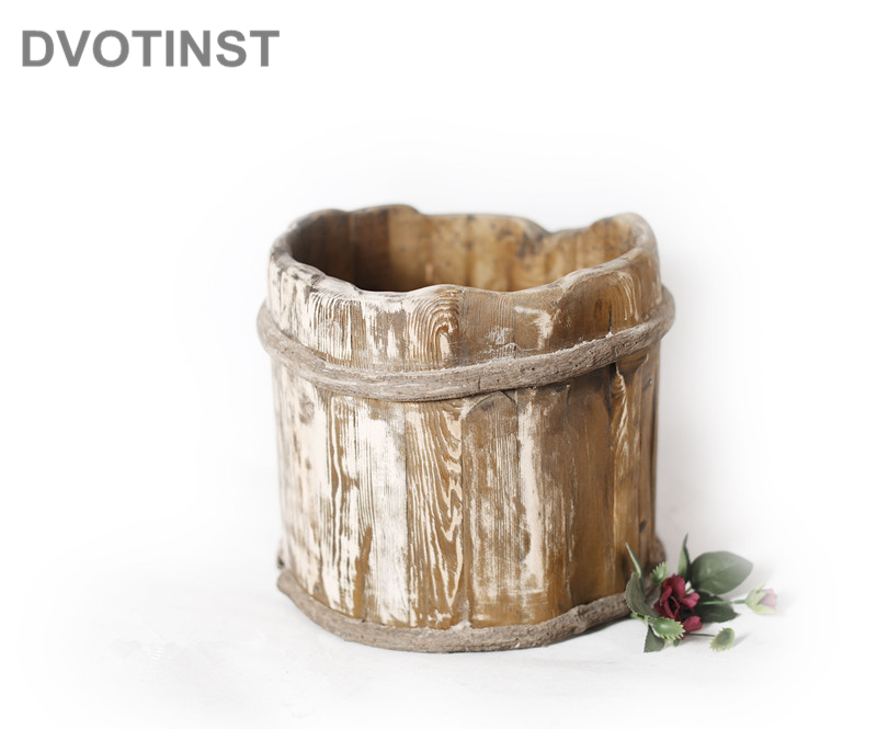 Dvotinst Newborn Baby Photography Props Retro Wooden Posing Tub Solid Wood Bucket Shooting Infant Studio Shooting Photo Props цена