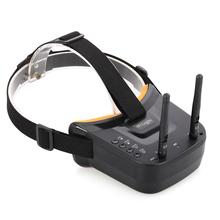5 8G 40CH podwójne anteny gogle fpv okulary wideo zestaw słuchawkowy HD dla Racing Drone zdalnie sterowany quadcopter z baterią 3 7 V 1200 mAh tanie i dobre opinie SKYRC 5 8G 40CH Dual Antennas FPV Goggles 0 4KG Package size About 18 * 16 5 * 9cm EACHINE Composite Material Receivers