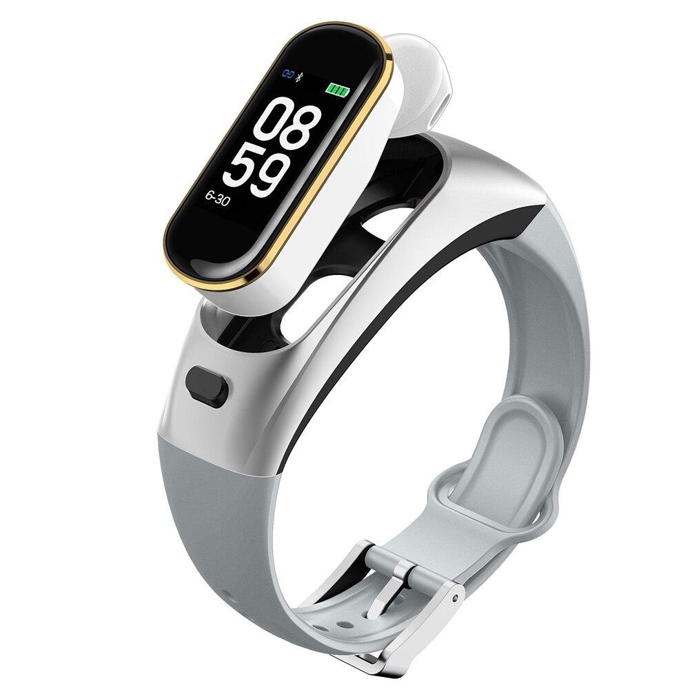 Montre intelligente moniteur de fréquence cardiaque Multi Modes de sport sommeil Bluetooth sans fil étanche Portable caméra contrôle Bracelet casque