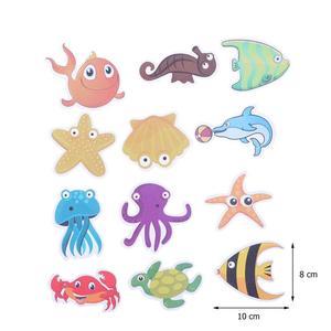 Image 4 - 12pcs Marine Organism Anti Slip Bathroom Sticker Self adhesive Sticker Decals for Bath Tub Shower Surfaces