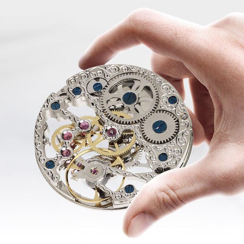 Novos Homens relógio mecânico Homem relógio de bolso oco perspectiva janela popular criativo relógio masculino homem retro relógios de bolso moda