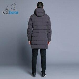 Image 4 - ICEbear 2019 חורף מעיל גברים כובע להסרה חם מעיל סיבתי מעיילי כותנה מרופדת חורף מעיל גברים בגדי MWD18821D