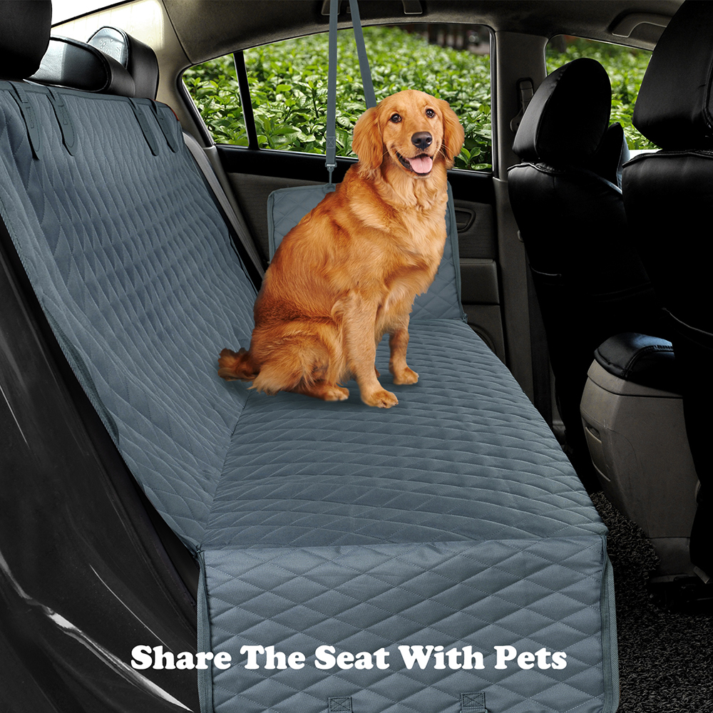 Dog Car Seat Cover View Mesh Waterproof Pet Carrier Car Rear Back Seat Mat Hammock Cushion Protector With Zipper And Pockets 2