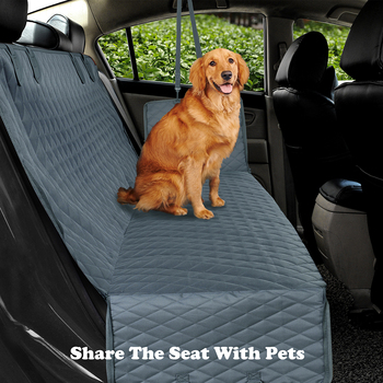 Dog Car Seat Cover View Mesh Waterproof Pet Carrier Car Rear Back Seat Mat Hammock Cushion Protector With Zipper And Pockets 1