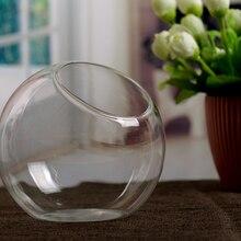 Прозрачная стеклянная ваза, гидропонная ваза для цветов, Висячие круглые стеклянные вазы для аквариума, аквариума, декоративные аксессуары для дома, террариум