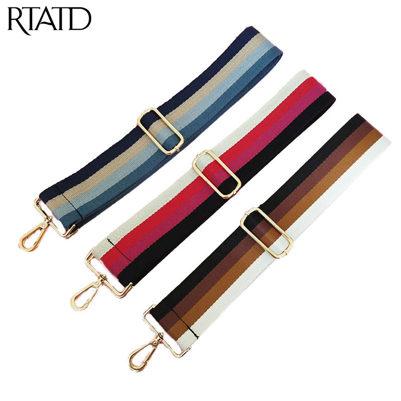 RTATD Canvas Adjustable Nylon Lady Wide Bag Strap Chic Classical Female Shoulder Bag Belts Easy Matching Bags Accessories Q0202RTATD Canvas Adjustable Nylon Lady Wide Bag Strap Chic Classical Female Shoulder Bag Belts Easy Matching Bags Accessories Q0202