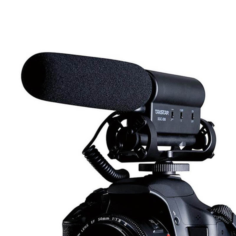 SGC 598 Photography Interview Lecture Conference Shotgun Hotshoe Recording MIC Microphone for DSLR Camera DV Video