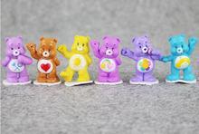 New 12pcs lot 2 5 4cm Anime CartoonMini The Care Bears PVC font b Action b