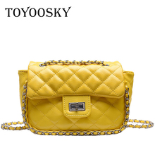 TOYOOSKY Luxury Handbags Women Bags Designer Diamond Lattice Shoulder Bag Chain Small Messenger For bolsa feminina
