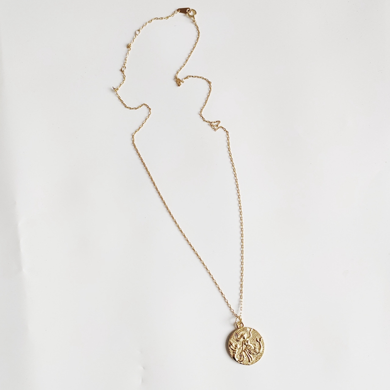 Image 3 - LouLeur 925 sterling silver Mermaid dance girls necklace round gold  Long hair flying elegant pendant necklace for women jewelry-in Necklaces from Jewelry & Accessories