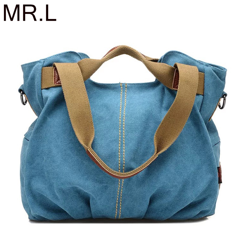 MR.L Brand Handbag Women Shoulder Bags Female Large Tote Bags Soft Corduroy Canvas Bag Crossbody Messenger Bag For Women 2019