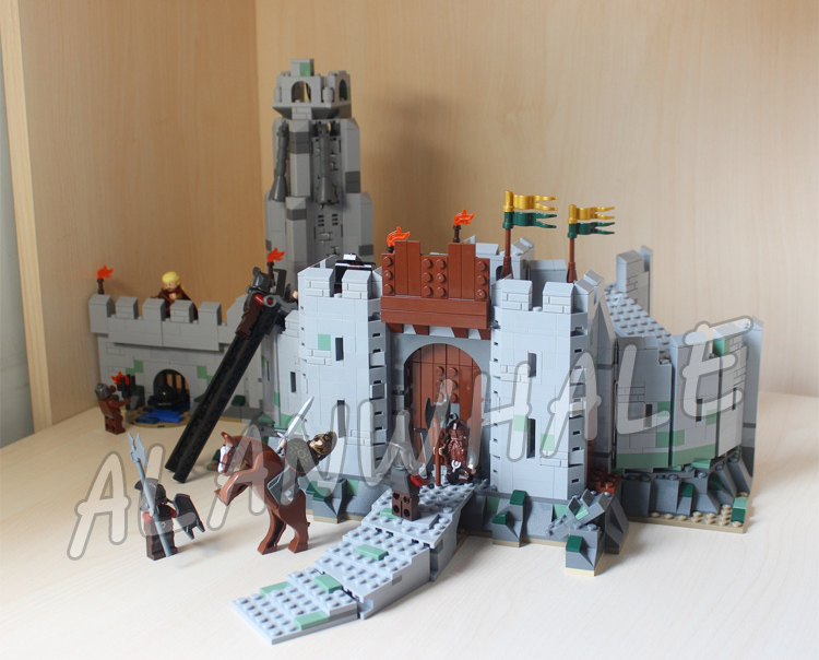 1368pcs The Lord of the Rings The Battle of Helms Deep Fortress 16013 Model Building Blocks Gifts sets Compatible with Lego