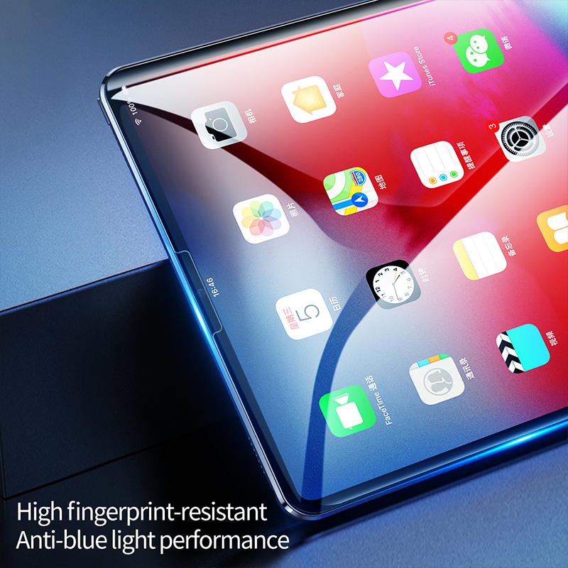 Baseus 0.3mm Tempered Glass For Apple iPad Pro 11'' 12.9'' 2018 Protective Glass 9H Scratch Proof Tablet Glass For iPad Pro 2018