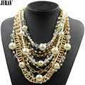 Exquisite vintage simulated pearls choker 2017 NEW fashion bib collar pendant necklace chains statement Pearl Fashion Jewelry