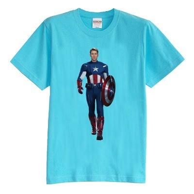 Crianças T shirt do verão de manga curta 100% algodão dos desenhos animados Homem de ferro Capitão América 8 cores boy girl kid t camisa
