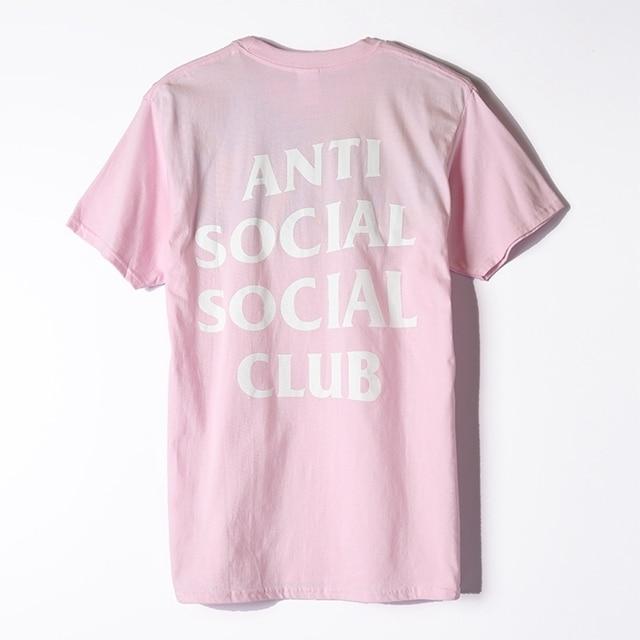 S-3XL Mens T Shirt streetwear clothing anti social club Tee short Sleeve O-neck T-Shirt Kanye West Letter Print US size