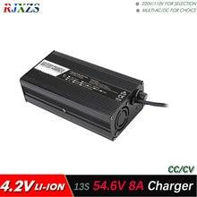 54.6 V 8A şarj için 13 S lipo/lityum Polimer/li ion pil paketi akıllı şarj cihazı destek CC/CV modu 4.2 V * 13 = 54.6 V