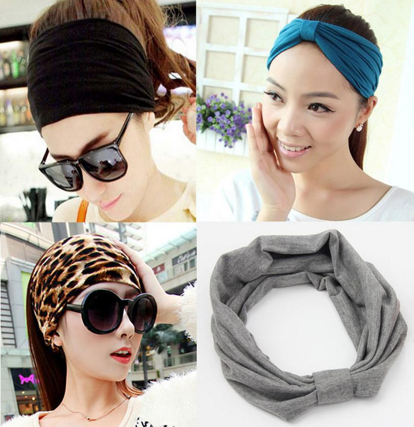 1 PCS Bohemia  Wide Cotton Stretch Women Headbands Headpiece Turban Headwear Bandage Hair Bands Bandana Fascinator